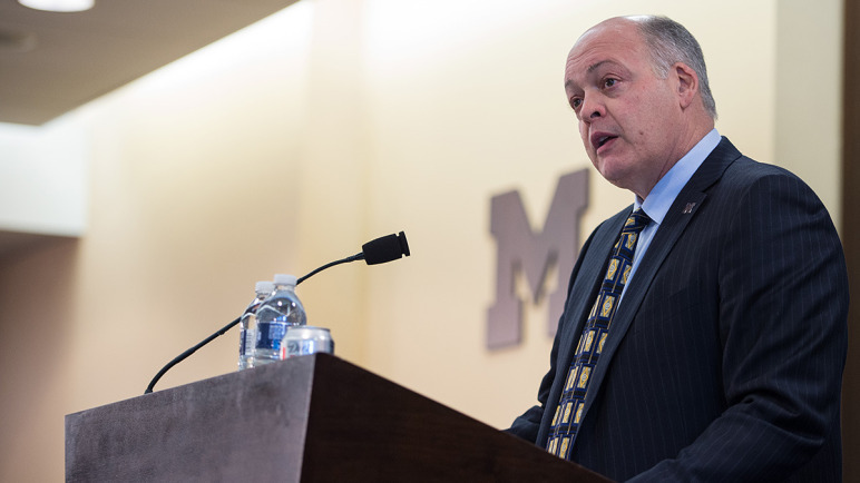 mlive: u-m interim ad jim hackett donates half-salary to athletes, Human Body